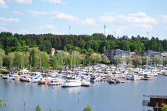 Lappeenranta, Finland. View of lake Saimaa and town of Lappeenranta, Finland Royalty Free Stock Photography