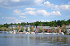 Lappeenranta, Finland. View of lake Saimaa and town of Lappeenranta, Finland Royalty Free Stock Photo