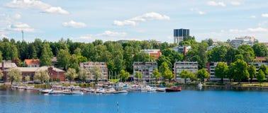 Lappeenranta Finlandia Jachty na Saima jeziorze Zdjęcia Stock