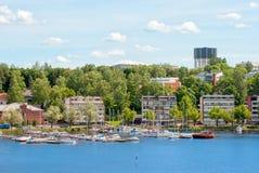 Lappeenranta Finlandia Jachty na Saima jeziorze Obraz Royalty Free