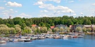 Lappeenranta Finlandia Jachty na Saima jeziorze Fotografia Royalty Free