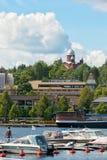 Lappeenranta Finlandia Łodzie i jachty na Saimaa jeziorze Fotografia Royalty Free