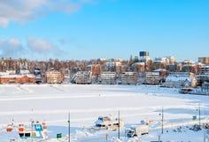 Lappeenranta Finlandia Łodzie na Saima jeziorze Zdjęcia Royalty Free