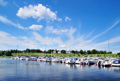 Lappeenranta harbor. Finland Royalty Free Stock Images