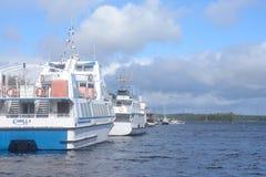 Lappeenranta harbor on the Saimaa lake. Stock Photos
