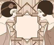 Lapper girl: Retro party invitation design Stock Image