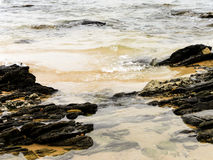 Lapping waves Royalty Free Stock Image