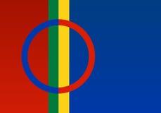 Lappland-amtlicher Markierungsfahnenvektor lizenzfreie abbildung