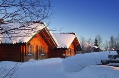 Lappland-Kabine stockbild