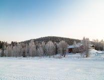 Lappland-Landschaft lizenzfreies stockfoto