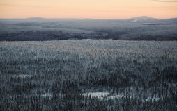 Lappland-Landschaft stockbild