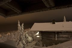 Lappland-Wintermärchenland Lizenzfreies Stockfoto
