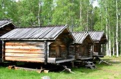 Lappstaden in Arvidsjaur (Svezia) Fotografie Stock Libere da Diritti