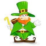 Laprachun on Saint Patrick's Day. Easy to edit vector illustration of Laprachun on Saint Patrick's Day stock illustration