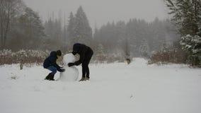 Laps de temps de bonhomme de neige clips vidéos