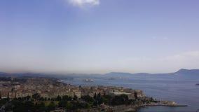 Laps de temps de Corfou, Grèce banque de vidéos