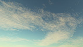 Laps de temps d'animation de nuage banque de vidéos