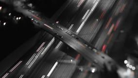Laps de temps d'autoroute la nuit banque de vidéos