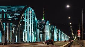 Laps de temps d'horizon de ville de Séoul chez le pont et le fleuve Han de Dongjak à Séoul, Corée du Sud banque de vidéos