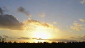 Laps de temps de coucher du soleil Photographie stock libre de droits