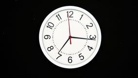 Laps de temps de l'horloge - 4K - 4096x2304 banque de vidéos