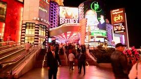 Laps de temps de la bande de Las Vegas la nuit banque de vidéos
