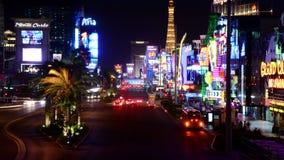 Laps de temps de la bande de Las Vegas la nuit - 4K banque de vidéos