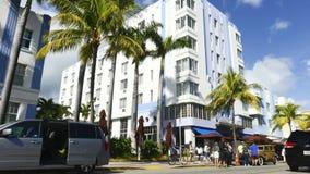 Laps de temps de la commande Miami Beach d'océan banque de vidéos