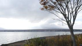 Laps de temps de lac Yamanaka banque de vidéos