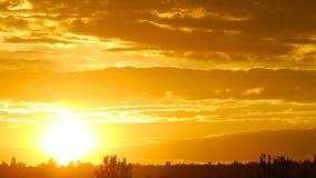 Laps de temps de lever de soleil banque de vidéos