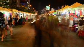 Laps de temps de marché Ho Chi Minh City Vietnam du centre de nuit clips vidéos