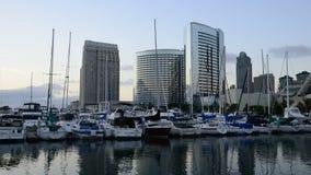 Laps de temps de marina à San Diego banque de vidéos