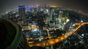 Laps de temps de paysage urbain de Bangkok Fisheye banque de vidéos