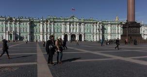 Laps de temps de place de palais de St Petersburg clips vidéos