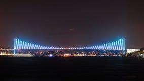 Laps de temps de pont de bosphorus d'Istanbul 4K ultra HD banque de vidéos