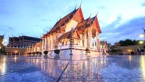 Laps de temps de temple de Suthat à Bangkok, Thaïlande banque de vidéos