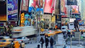 Laps de temps de Times Square banque de vidéos