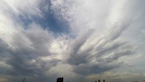 Laps de temps du mouvement de nuage clips vidéos