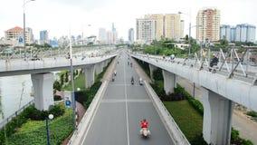 Laps de temps du trafic dans Ho Chi Minh City Vietnam du centre clips vidéos