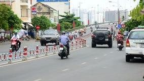 Laps de temps du trafic dans Ho Chi Minh City Vietnam du centre banque de vidéos