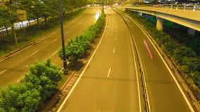 Laps de temps du trafic de Ho Chi Minh Cityscape Crossroad sur la nuit banque de vidéos