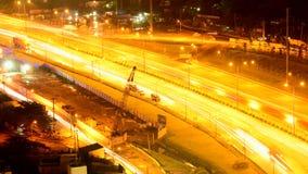 Laps de temps du trafic de route la nuit - Ho Chi Minh City (Saigon) Vietnam clips vidéos