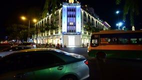Laps de temps du trafic la nuit - Ho Chi Minh City Vietnam du centre clips vidéos