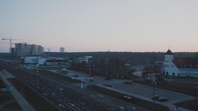 Laps de temps : l'aube dans la ville banque de vidéos