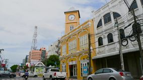 Laps de temps la ville de phuket de voyage de point de repère pendant l'été à phuket Thaïlande banque de vidéos