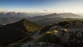Laps de temps de la vue alpine, Herzogstand en Bavière, Allemagne clips vidéos
