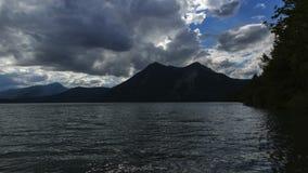 Laps de temps de lac Walchensee en Bavière, Allemagne banque de vidéos