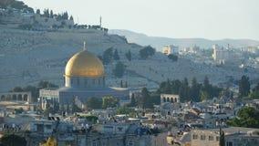 Laps de temps de lever de soleil au-dessus de vieille ville Jérusalem clips vidéos