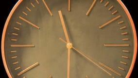 Laps de temps rapide moderne de visage d'horloge banque de vidéos