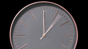 Laps de temps rapide moderne de visage d'horloge clips vidéos